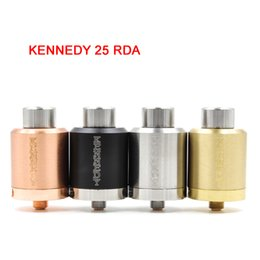 Wholesale Post Fittings - KENNEDY 25 RDA Rebuildable Atomizers 25mm Diameter 2 POST SS Black Brass Red Copper PEEK Insulator fit 510 Mods DHL ATB517