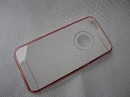 Wholesale Hard Chrome Plating - Deluxe Plating Bling Glitter Chrome Hard Bumper Frame +Soft TPU Case Metallic Electroplate Sparking Shiny Skin iphone6 samsung