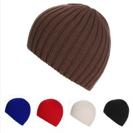 Wholesale Ladies Fashion Hats Cheap - Cheap wholesale hat in Europe in autumn and winter color hat striped short sleeve head ski cap outdoor male ladies knitted hat general warm