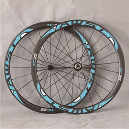 Wholesale Cycling Wheels Cheap - 700C 38mm depth cheap full carbon bike tubeless clincher road wheelset super quality wider wheels for cycling freeshipping now