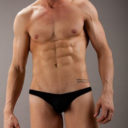 Wholesale Wj Mesh Underwear - WJ Mens Underwear Thongs Gay Bikini G-strings Underpants Penis Calzoncillos Hombre Slips Low Waist Mesh Underwear Jockstrap