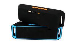 reproductor de video audio portátil Rebajas CS208 Altavoz Bluetooth Altavoces estéreo inalámbricos portátiles Reproductor de audio y video manos libres V3.0 Subwoofer con U Disk TF Card