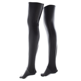 Wholesale Erotic Games - Exotic Apparel Accessory Faux Latex Thigh-highs Stockings for Women Erotic Lingeries Parts Adult Bondage Game Long Socks