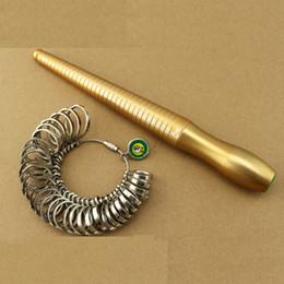 Wholesale Ring Stick Sizer - Free Shipping 1-33 HK Size Metal Coppering Ring Stick And Ring Sizer Set, Measure Finger Size&Ring Gauge Metal Finger Sizer Tool