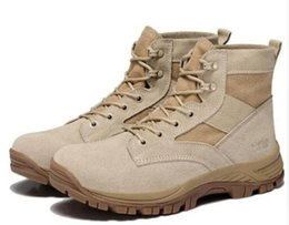 Wholesale desert tan - new arrive Military Boots outdoor Desert Tan combat army boots male shoes Mens Tactical Police boot 2 colors size39-44