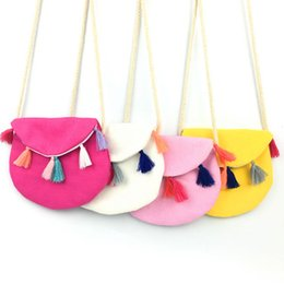 Wholesale Small Gift Satchel Bags Wholesale - Wholesale- New Children Summer Colorful Fabric Bag Tassel Soft Kids Messenger Bag Cool Canvas Casual Small Bag Vintage Design Baby Gifts