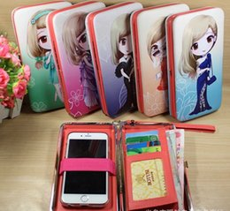 Wholesale Cute Dolls Photos - new styling hot sale funny Cute cartoon beautiful doll phone package student card bag lady wallet bag
