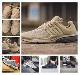 Wholesale Air Cushions - 2016 Presto Ultra SE Woven Sand All Black Midnight Navy Wolf Grey Running Shoes Airs Cushion Outdoor Casual Walking Sneakers Size 40-45