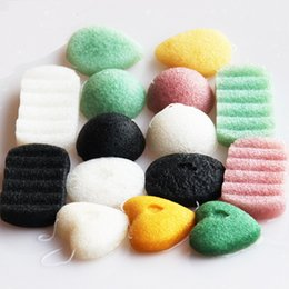 Wholesale pure body cleanse - Konjac Sponge Puff Herbal Facial Sponges Pure Natural Konjac Vegetable Fiber Making Face Body Cleansing Tools