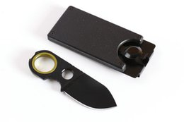 """Wholesale Pocket Utility - 2016 New Fox GDC Money Clip Fixed Blade Knife 3.6"""" Outdoor Camping Utility Hiking rescue survival knife EDC pocket knife knives"""
