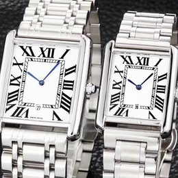 Wholesale Valentines For Men - ultra thin lovers' AAA men women watches luxury brand Full Stainless Steel band quartz wrist watch for man lady best Valentine Gift relogios