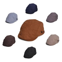 Wholesale Black Ivy Cap - Unisex Solid Color Mens Womens All Season Duckbill Ivy Driver Golf Cabbie Gatsby Cap Hat T265