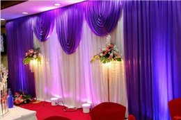 Wholesale Chinese Wedding Veils - 3*6m Wedding swags drapes Party Background party Celebration Background Satin Curtain Drape Ceiling Backdrop Marriage decoration Veil