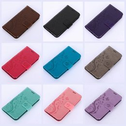 Wholesale Xperia Cell Phone Cases - Flip Cover PU Wallet Leather Flower Celular Cell phone Butterfly Card For Sony Xperia X Compact Galaxy J5 Prime On5(2016) J7 Prime ON7(2016)