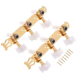 Wholesale Guitar Tuning Heads - Classical Guitar Tuning Keys Pegs Machine Heads Gold w  Mica Button