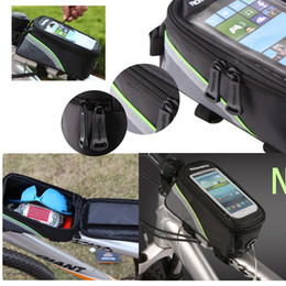 Wholesale Dirt Bike Tubes - Outdoor Cycling Riding Sport Bike Bicycle Mobile Phone Bag Frame Front Tube Bag for 5.5'' Cell Phone Waterproof Bag PVC