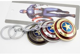 Wholesale Marvel Comics Gifts - Hot sale Marvel Comics Super Hero Captain America The Avengers Keychains KeychainBuckle accessories for men Christmas gift cheep