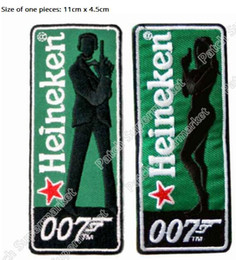 "Wholesale Bond Movies - 4.3"" JAMES BOND 007 SPECTRE Movie TV Costume Cosplay Uniform Embroidered Emblem applique Sew On iron on patch badge halloween"