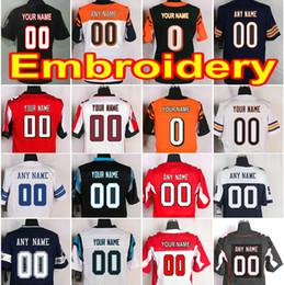 Wholesale Browning Car - Custom American Football Jersey in Any Team Name Number Customized Shirt DAL ATL NYG OAK CAR GB SEA PIT ARI MIN SF