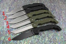 Cuchillos grandes de acero al aire libre online-Cold Steel VOYAGER 10 tipos de los más nuevos CUCHILLOS XL-SIZE serie Cuchillo grande plegable utilidad supervivencia caza táctica cuchillos acampar al aire libre herramienta EDC