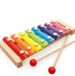 Wholesale Xylophone For Children - Learning Education Wooden Xylophone For Children Kid Musical Toys Xylophone Wisdom 8-Note Music Instrument Kid Christmas Gift KKA3374