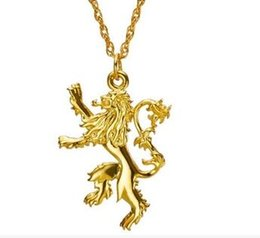 Wholesale Wholesale Slide Fire - Game Of Thrones Lannister Necklace TV Play Song Of Ice And Fire Two Sided Lion Jewelry