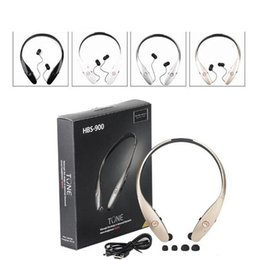 Wholesale Apple Logo Ear - HBS900 wireless bluetooth headphone HBS 900 stereo sports headsets for iphone 6s 7 samsung S8 HTC without logo with package