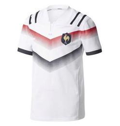 Transferencia de camisetas online-2017 Nueva Super France Rugby Jerseys 2017-18 SHigh-temperatura transferencia de calor jersey de impresión hombres Rugby Camisas Tamaño S-3XL