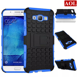 Wholesale Ace Silicone - Armor Hybrid Kickstand Case For Samsung Galaxy A9 A8 A7 A710 A5 A510 A3 A310 Ace 4 Combo Hard PC+TPU Silicone Phone Cover