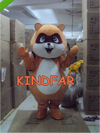 Wholesale Raccoon Mascot - Wholesale-Professional RACCOON MASCOT COSTUME CUTE FANCY DRESS Cartoon Party Carnival Outfit Suit Free Ship