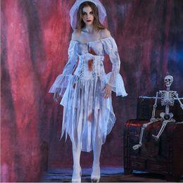 Wholesale Sexy Erotic Nurse - Halloween Costumes Sexy Erotic Style Nursing Uniforms Horrible Zombie Nurse Costume M-XL