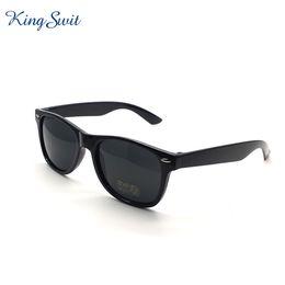 Wholesale Plastic Temples - KingSwit Classic Rectangle Sunglasses For Men & Women Plastic Frame And Temple Eyeglasses Coating Mirror Lens Eyewear Gafas KS001