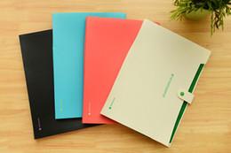 Wholesale Accordion Bag - Wholesale-1PC Simple Waterproof Book A4 Paper File Folder Bag Accordion Style Design Document Rectangle Office Home School Color Random