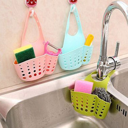Wholesale Kitchen Sink Baskets - Wholesale- Portable Home Hanging Drain Bag Basket Bath Storage Tools Sink Holder Bathroom Accessories Holder Soap Kitchen Dish Cloth Sponge