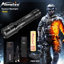 Wholesale Portable Search - AloneFire TK700 L2 usb rechargeable Search and rescue LED Flashlight Super Bright for Emergency and Self Defense