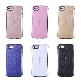 Wholesale Hard I Phone Cases - Fashion Hybrid Silicone phone case for iphone 7 i face Hard Rubber hock proof Grid Square cover case