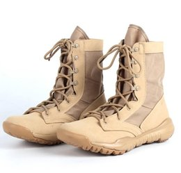 Wholesale Soft Leather Work Shoes - New Ultralight Men Army Boots Military Shoes Combat Tactical Ankle Boots For Men Desert Jungle Boots Outdoor Shoes Size 38--45