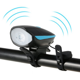 Wholesale Wholesale Electric Mountain Bike - 2 in 1 Cycling Mountain Bike Electric Horn Bell + Bicycle Light Headlight Vocal USB Charging or Batteries Night Riding Light