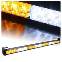 """Wholesale Led Amber Warning Light Bars - CYAN SOIL BAY 28 LED 31.5"""" Amber White Emergency Traffic Advisor Flash Strobe Light Bar Warning"""