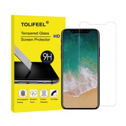 Argentina Para la película de cristal templada cristalina del iPhone X para la cubierta protectora protectora de la pantalla del iPhone X 9H 2.5D Suministro