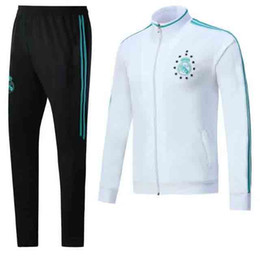 Wholesale Wholesale Real Madrid - top quality 2017 Real Madrid Football jacket tracksuit 17 18 RONALDO de foot JAMES BALE RAMOS ISCO jacket Training suit SIZE S-3XL