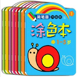 Wholesale Boys Drawing Book - Wholesale-8pcs set Baby kid's painting book learning coloring draw childhood enlightenment cognitive interest development