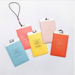 Wholesale Wholesale Leather Luggage Tags - Fashion Leather Luggage Tags Travel Paper Suitcase Tag Carrying case Tag Packet Label Wrap Easily recognizable Bag Parts With lanyard