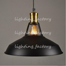 Colgante de metal tonos claros online-MODERNO INDUSTRIAL LOFT BAR METAL PENDANT LAMP SHADE COLGANTE LUZ DE TECHO (Negro) (blanco)