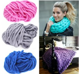 Wholesale Pure Bedding - Knitting wool Woolen Yarn Pure Wool Super Bulky Chunky Knitting Yarn DIY Handmade knitted neckerchief blanket Crochet