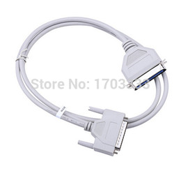 Wholesale Parallel Cables - 50pcs   lots 150cm parallel printer dot matrix cable 25 pin to 36 pin 1284 DB25 to CN36 parallel printing cable DHL Fedex Free