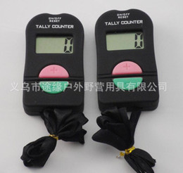 Wholesale Free Counters - 240pcs lot Digital Hand Tally Counter Electronic Manual Clicker ADD SUBTRACT MODEL For Golf Sports Muslim Free shipping