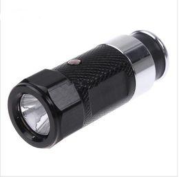 Wholesale Led Flash Lighter - New LED Rechargable Car Cigarette Lighter Flashlight Torch aluminium alloy flash light 3 modes H1386B