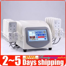 Wholesale Diode Laser Pads - New Pro 5mw 650nm Lipo Diode Cellulite Removal Weight Loss Lipo Laser Beauty Machine 14 Pads