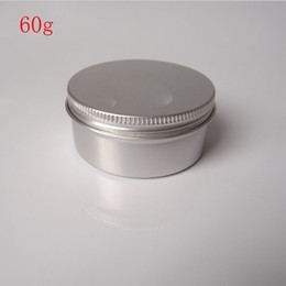 Wholesale Glass Powder Container - Free Shipping - 50 x 60g aluminum jar, metal jar for cream powder gel use, 2 oz cosmetic bottles, 60ml aluminum container